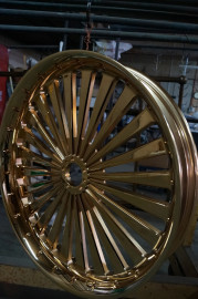 Mirror polished, then gold plated wheel