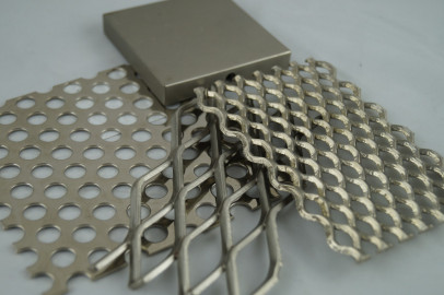 Brigh Sivler nickel to mesh and perforated panels