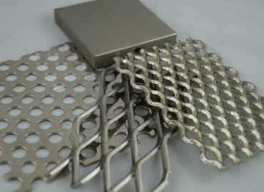 Antares Polished Silver nickel to mesh and perforated panels