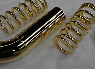 Polished Gold metal show car parts