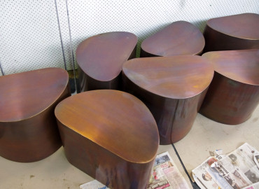 Arcturus Oiled tables to Pebble side tables at