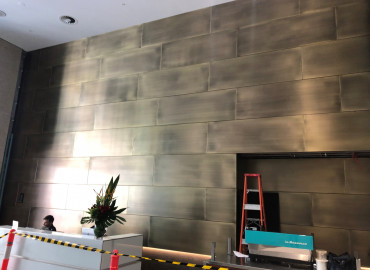 Alhena Antique Brass to panels 4 Market Street Sydney