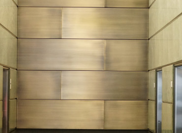 Alhena Antique Brass to panels 44 Market Street Sydney