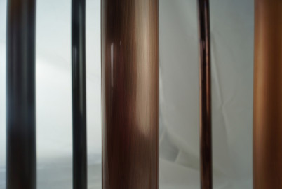 Aged Copper + Clear Gloss plated to aluminium tubes