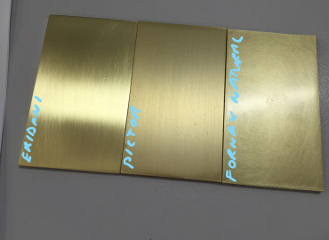 Varying brass finish swatches