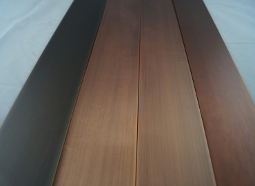 AQUARII Antique Copper to aluminium skirting