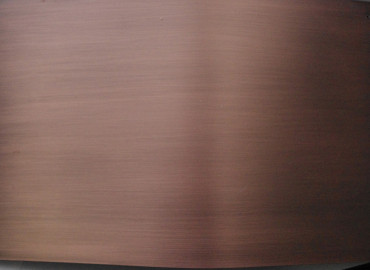 AQUARII Antique Copper to curved stainless panels