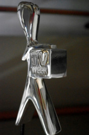 CETUS Polished Silver + Clear Gloss TV week trophy