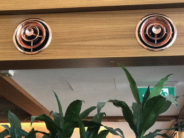 VIRGINIS Polished Copper to aluminium diffusers