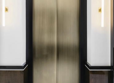 Alhena Antique Brass to lift doors for  Blainey North Architecture