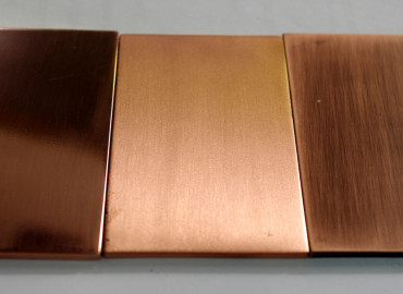 Polished brushed and Antique Copper Astor finishes - as seen in Indesign