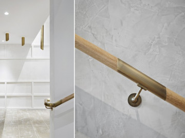Alhena Antique Brass + Clear Satin