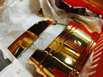 Polished Gold show car parts