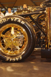 Polished Gold show car at Car Show
