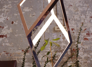 VIRGINIS Polished Copper to aluminium frame Christopher Boots design