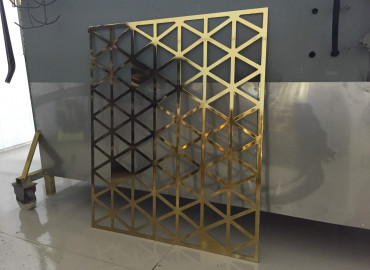 Alrisha Polished Brass + Clear Gloss Lasercut screen