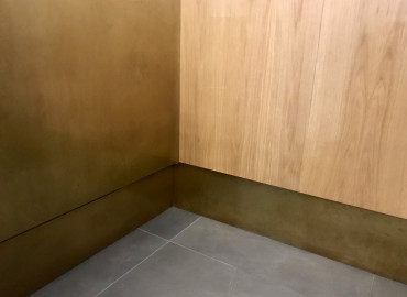Tucana oiled bronze natural finish at Eternity cafe
