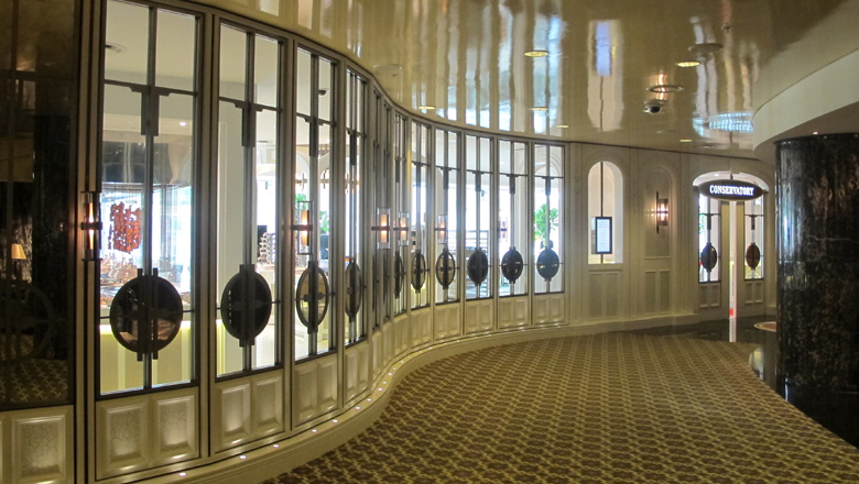 Grafias, Antique Nickel finsih to aluminium extrusions laser cut panels @ Crown Melbourne