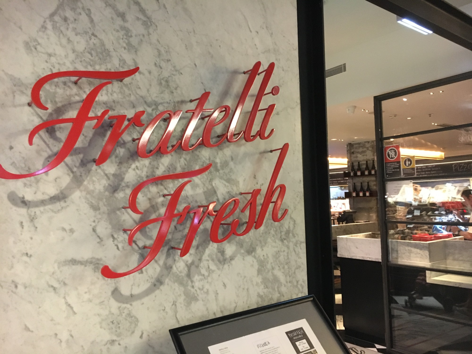 Fratelli Fresh, Pitt Street Mall Westfield Sydney