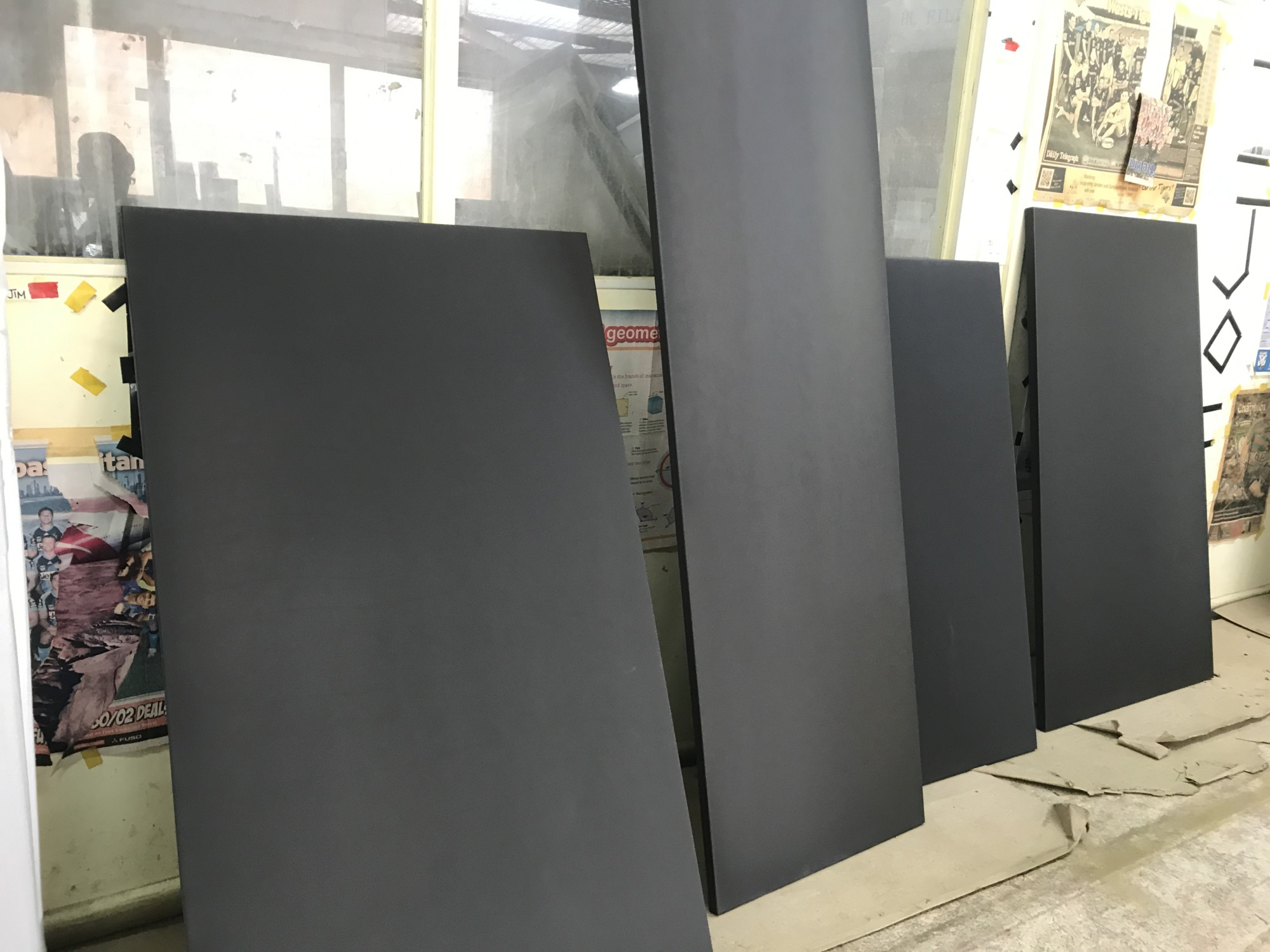 PROCYON - Satin Pearl Black Nickel to unpolished mild steel panels for DAVID JONES entries Australia-wide