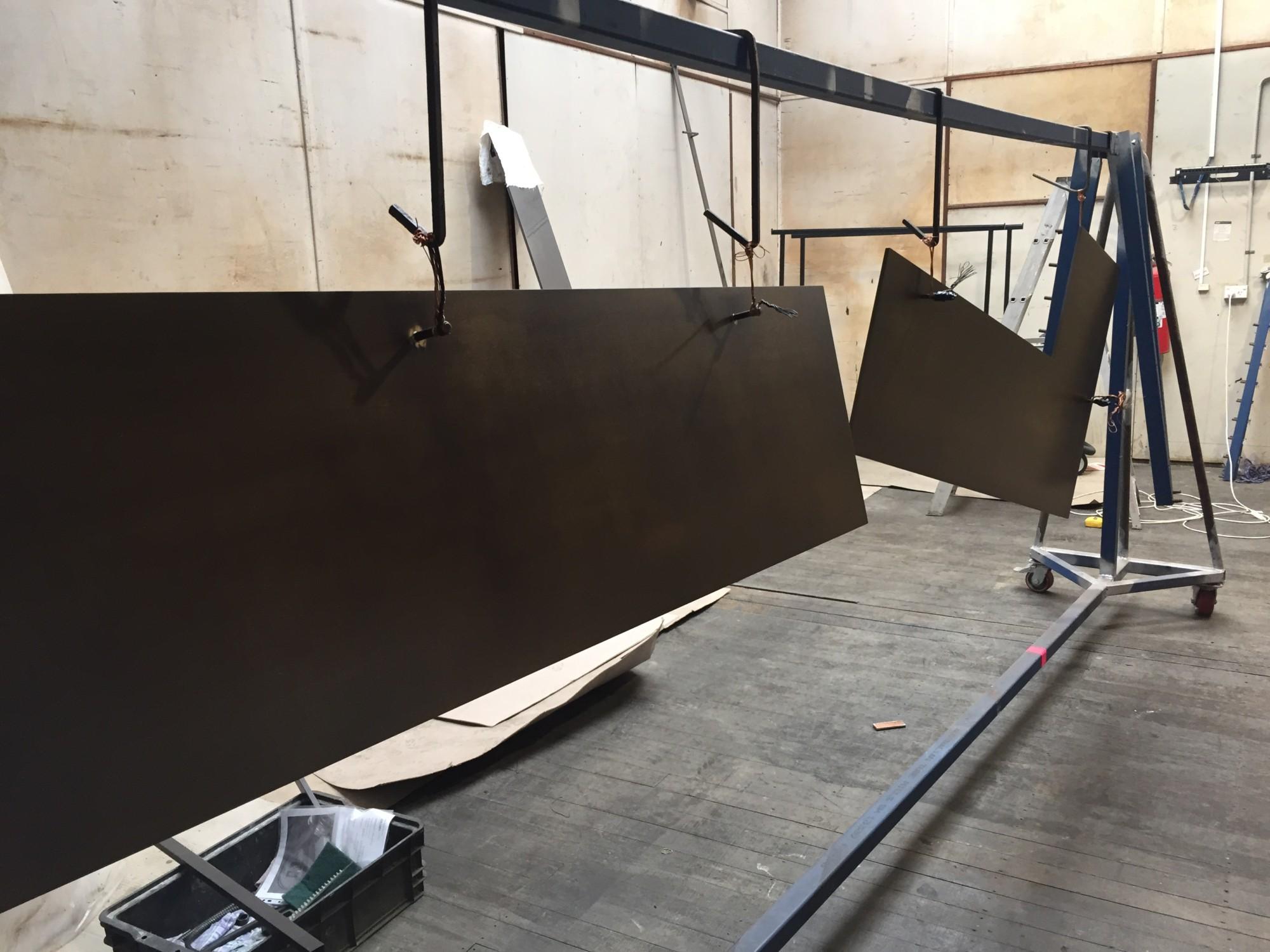 Procyon Satin Pearl Black Nickel to 8mm aluminium panels